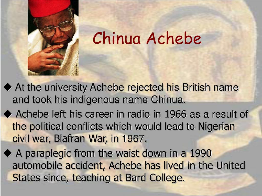 an indigenous tragedy in things fall apart in chinua achebe Like chinua achebe's first novel (things fall apart), arrow of god takes us back to the traditional village culture of the igbo nation in western nigeria, tracing its destruction under british colonial rule.