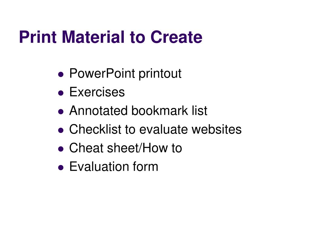 Print Material to Create
