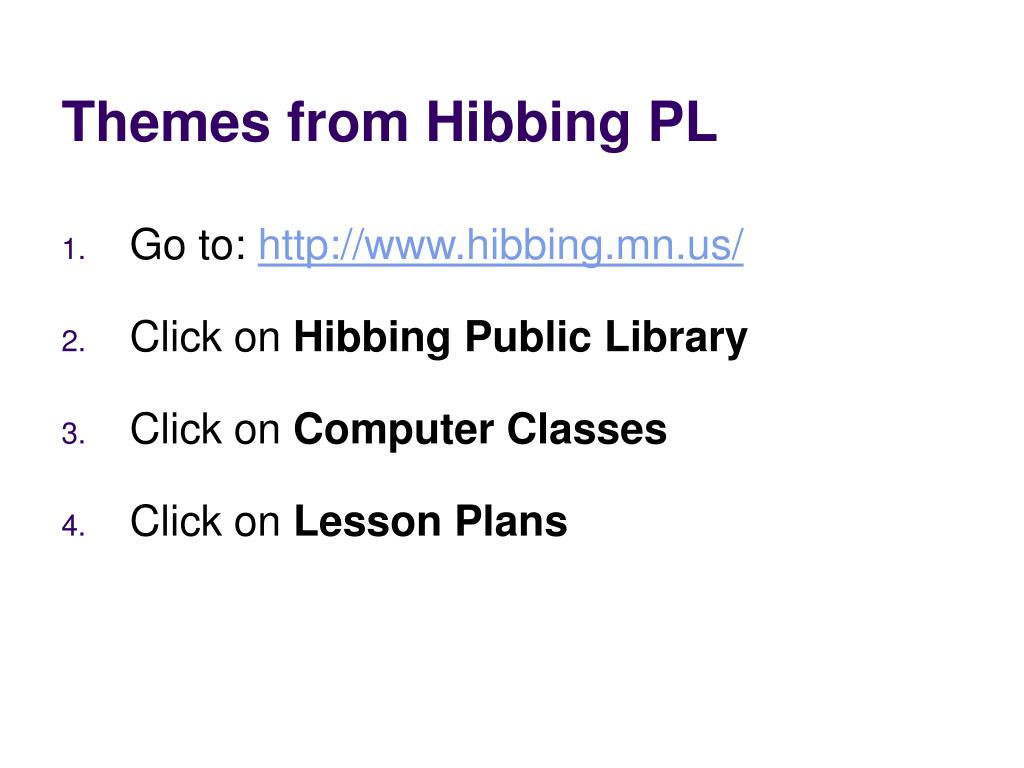 Themes from Hibbing PL