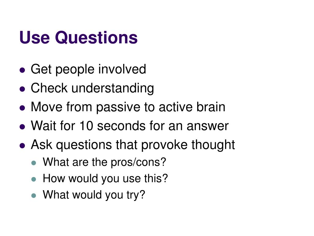 Use Questions