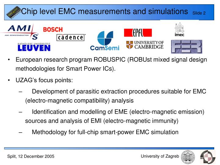 Chip level emc measurements and simulations