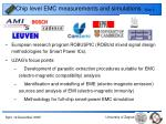 chip level emc measurements and simulations