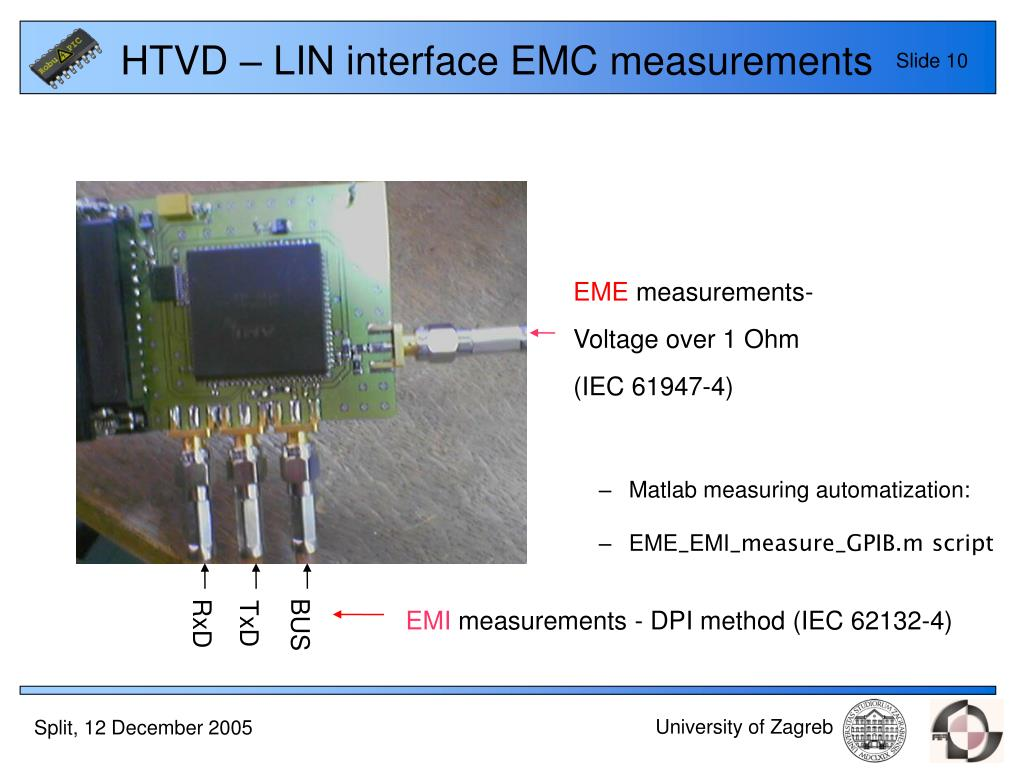 HTVD – LIN interface EMC measurements