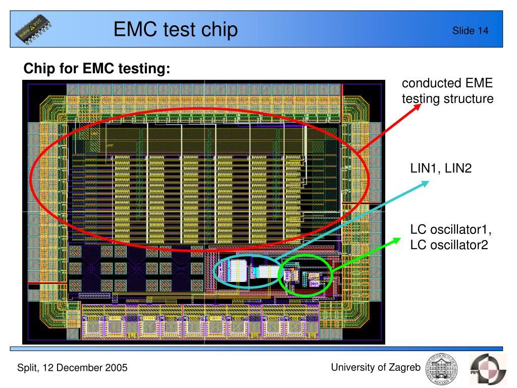EMC test chip