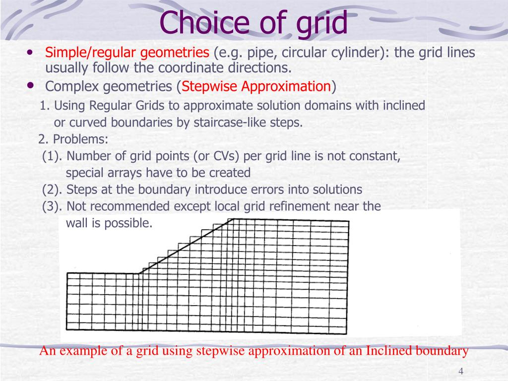 Choice of grid