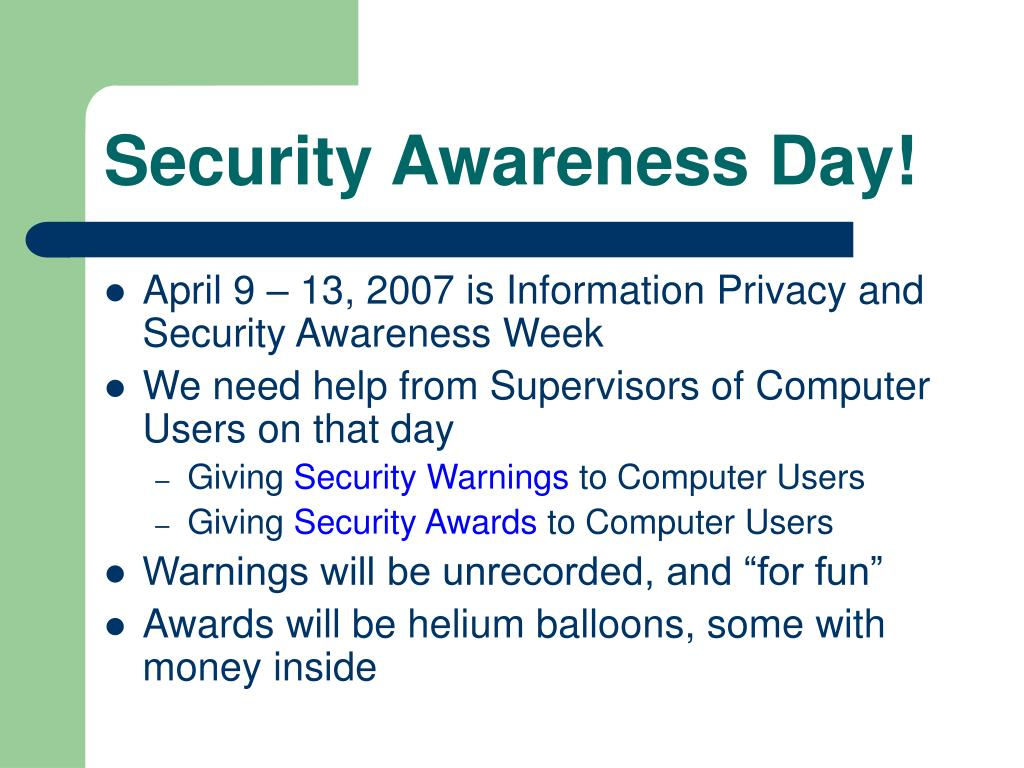Security Awareness Day!