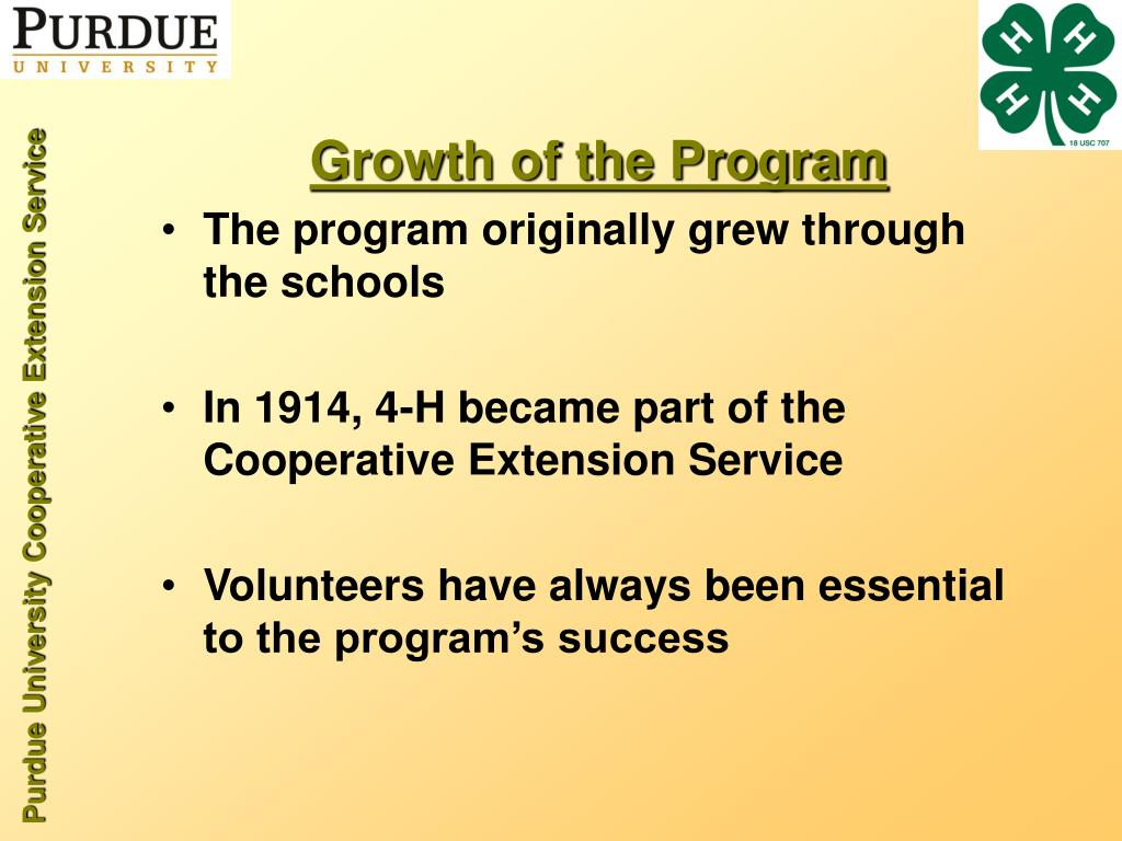 Growth of the Program