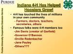indiana 4 h has helped hoosiers grow