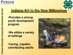 indiana 4 h in the new millennium