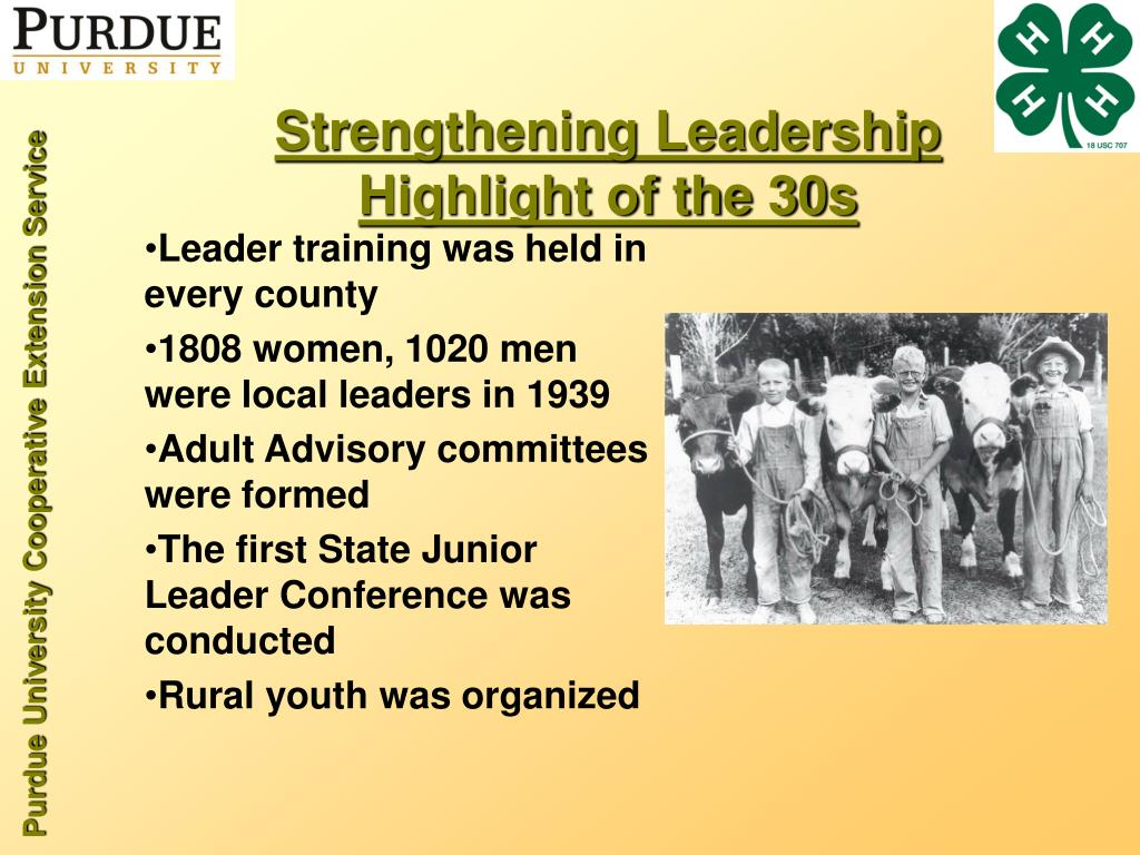 Strengthening Leadership Highlight of the 30s