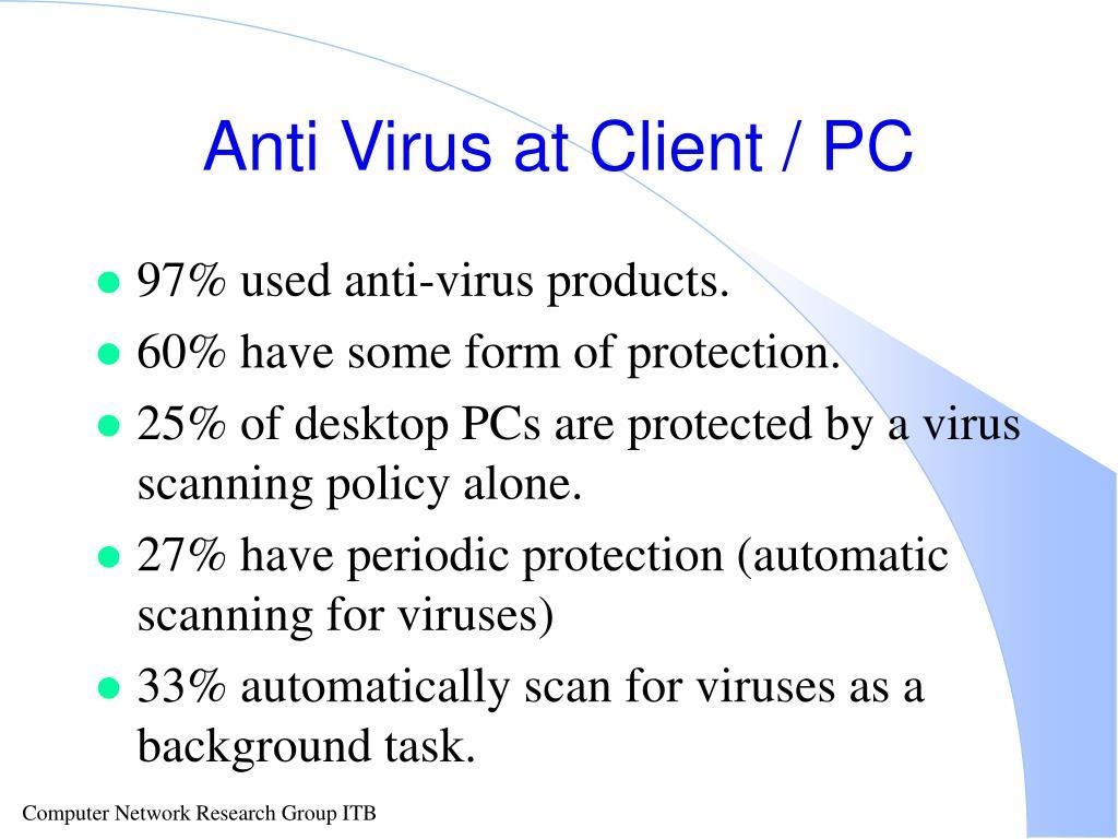 Anti Virus at Client / PC