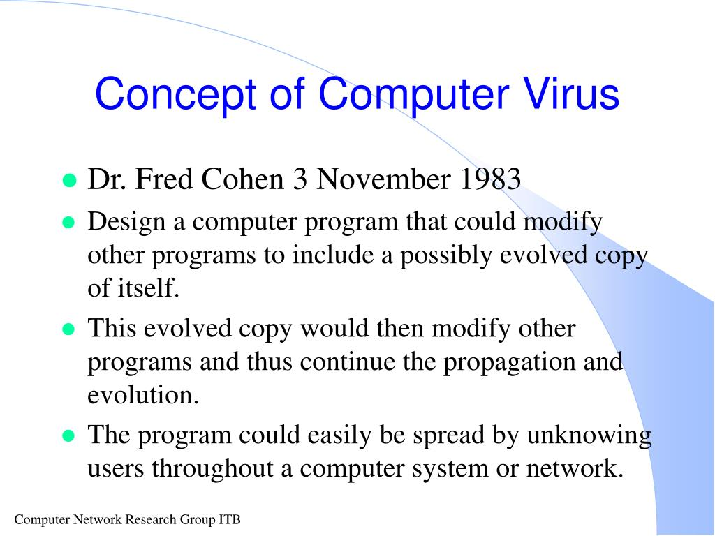 Concept of Computer Virus
