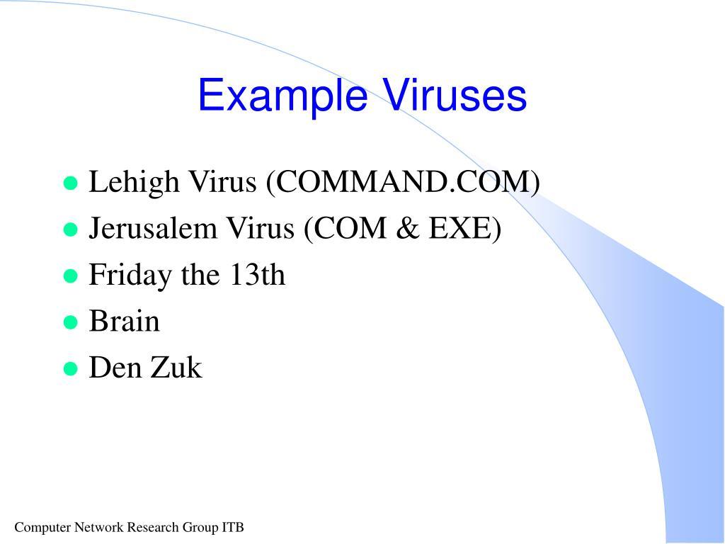 Example Viruses