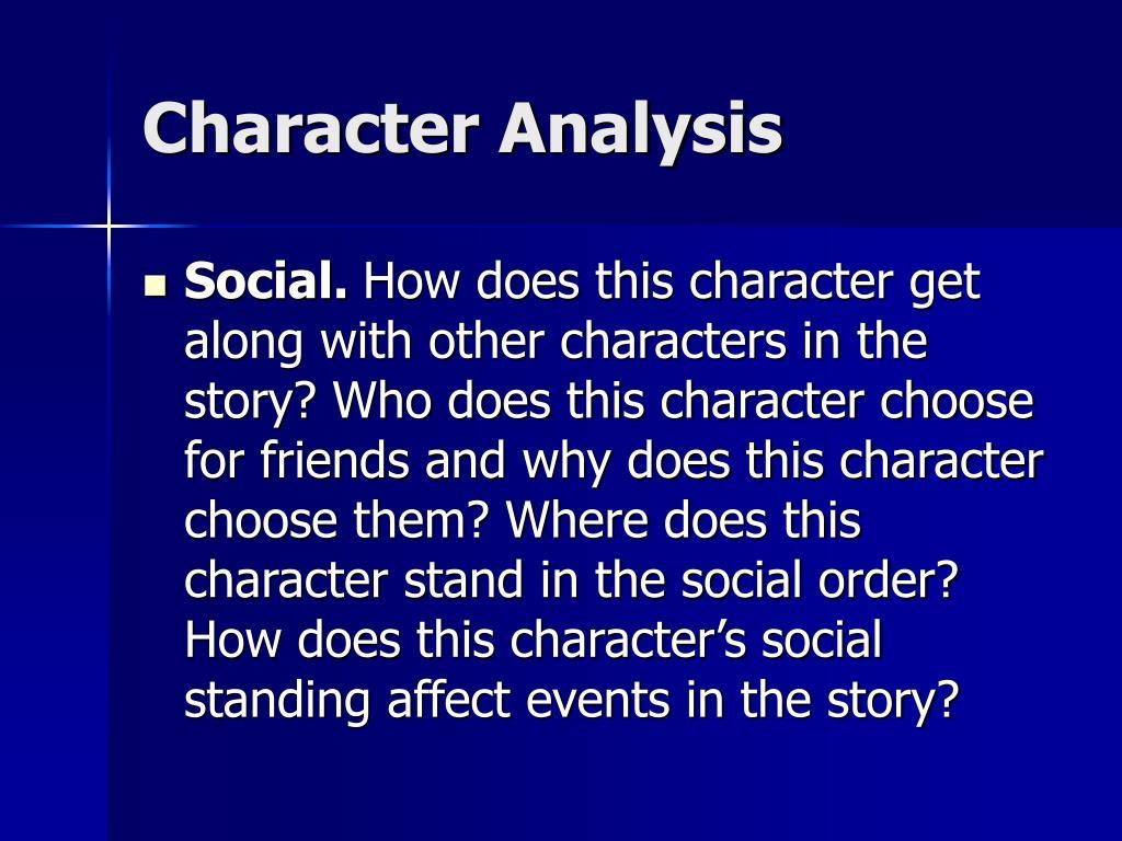 Character Analysis