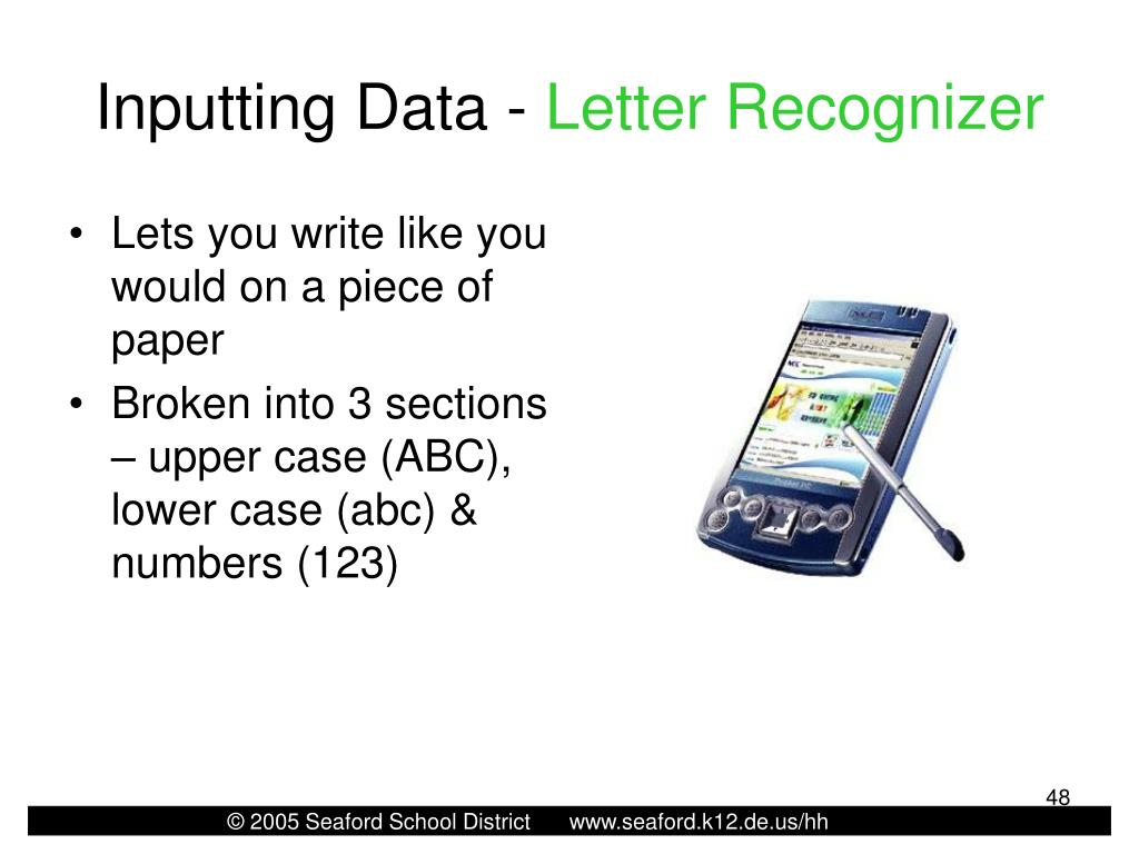 Inputting Data -