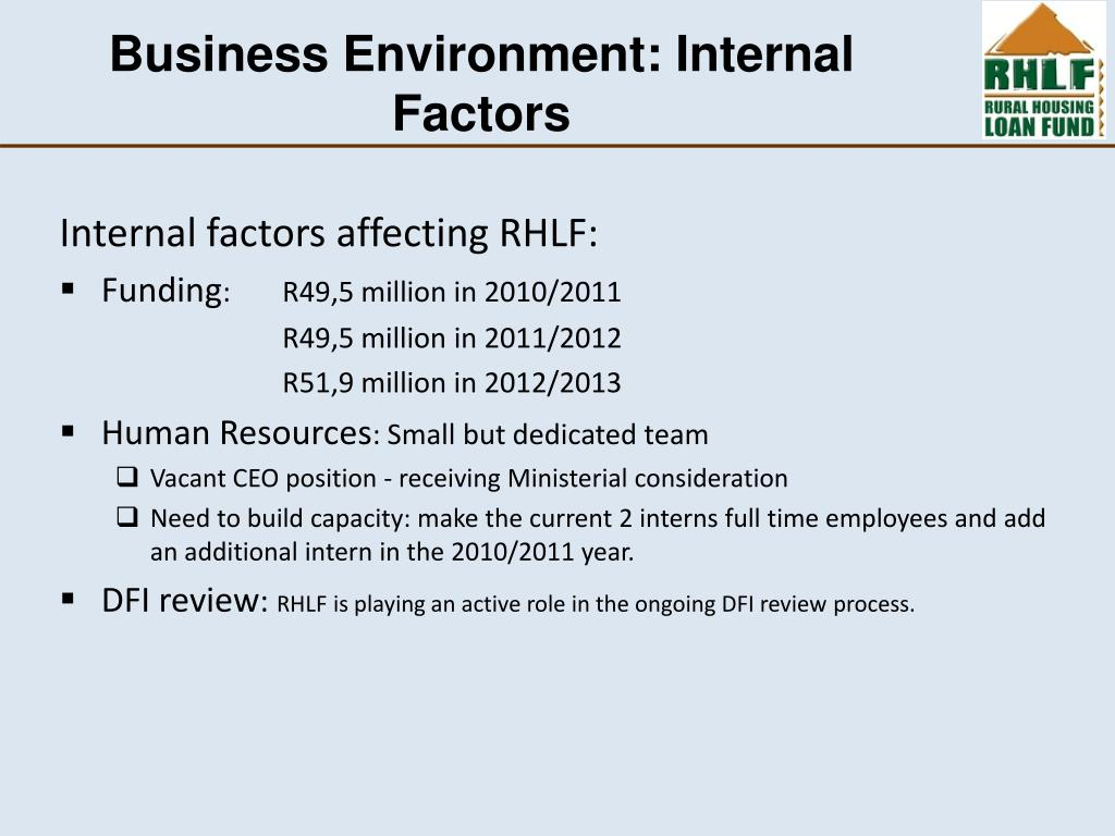 Business Environment: Internal Factors