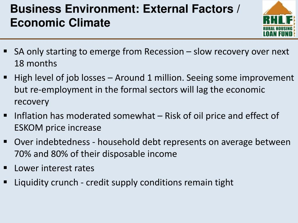 Business Environment: External Factors /