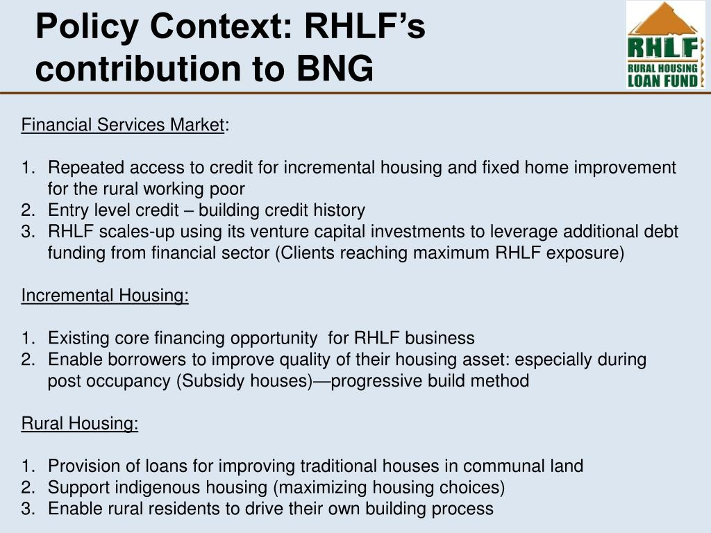 Policy Context: RHLF's contribution to BNG