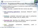 propreo experimental proteomics process ontology