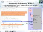 service description using wsdl s