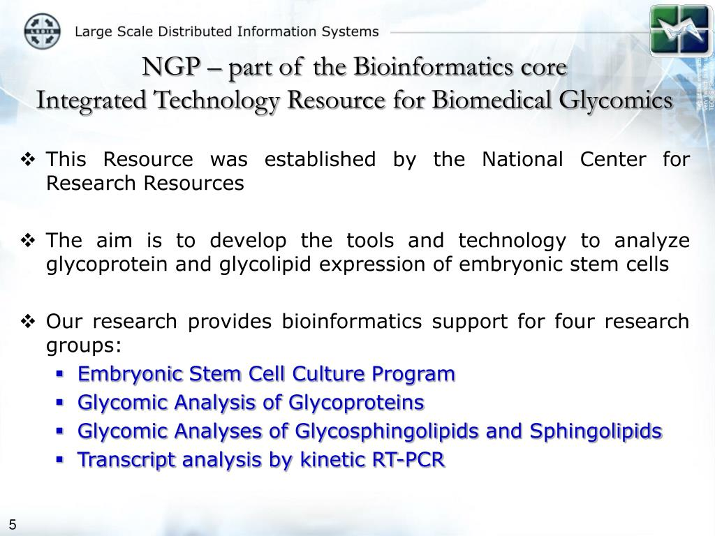 NGP – part of the Bioinformatics core