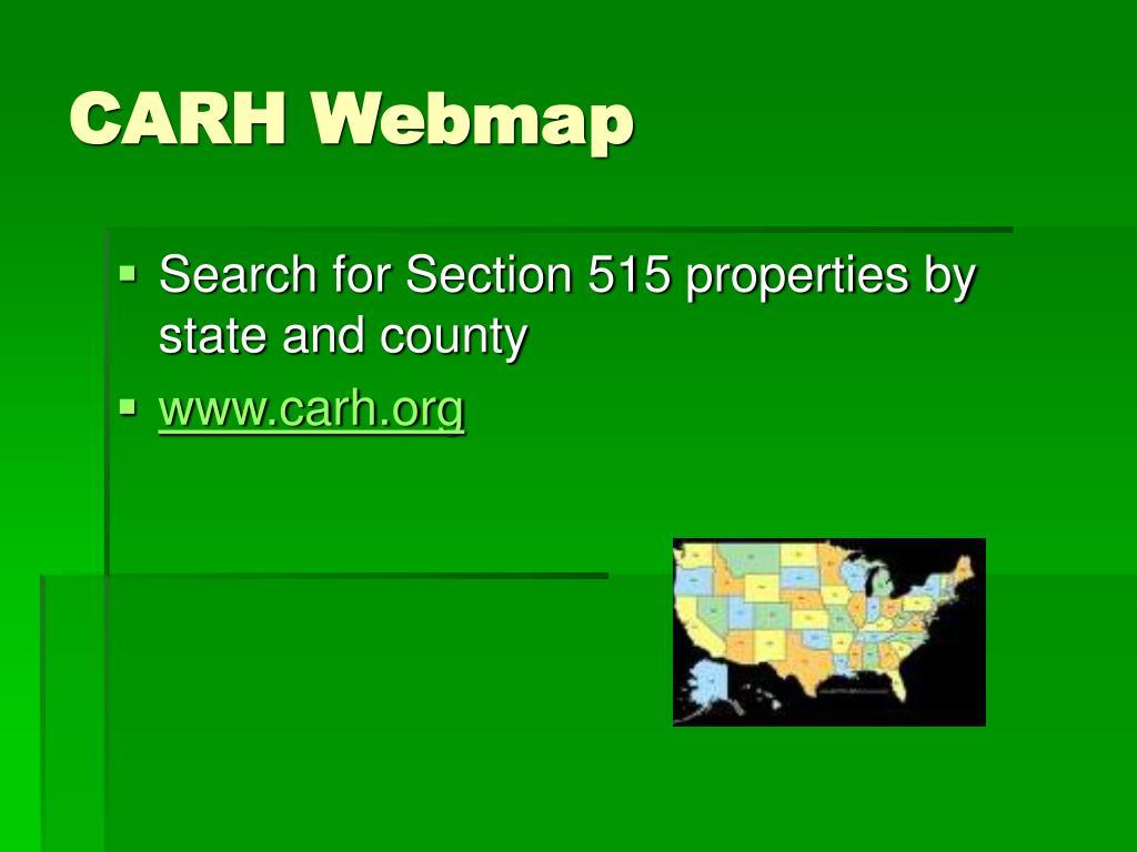 CARH Webmap