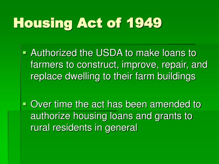 Housing act of 1949