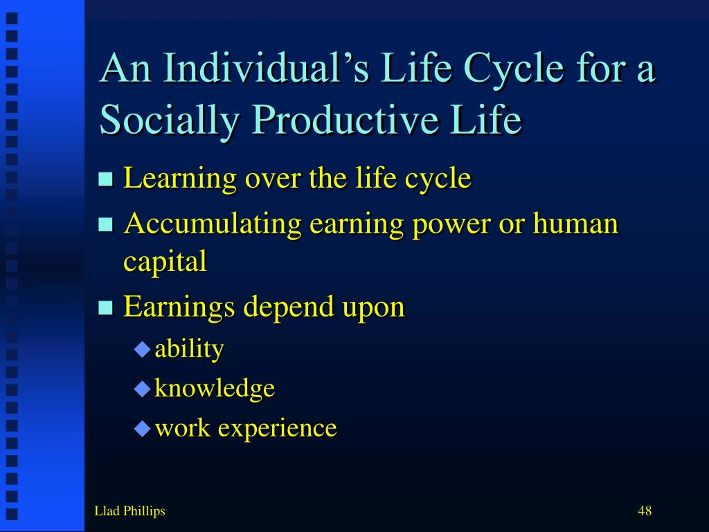An Individual's Life Cycle for a