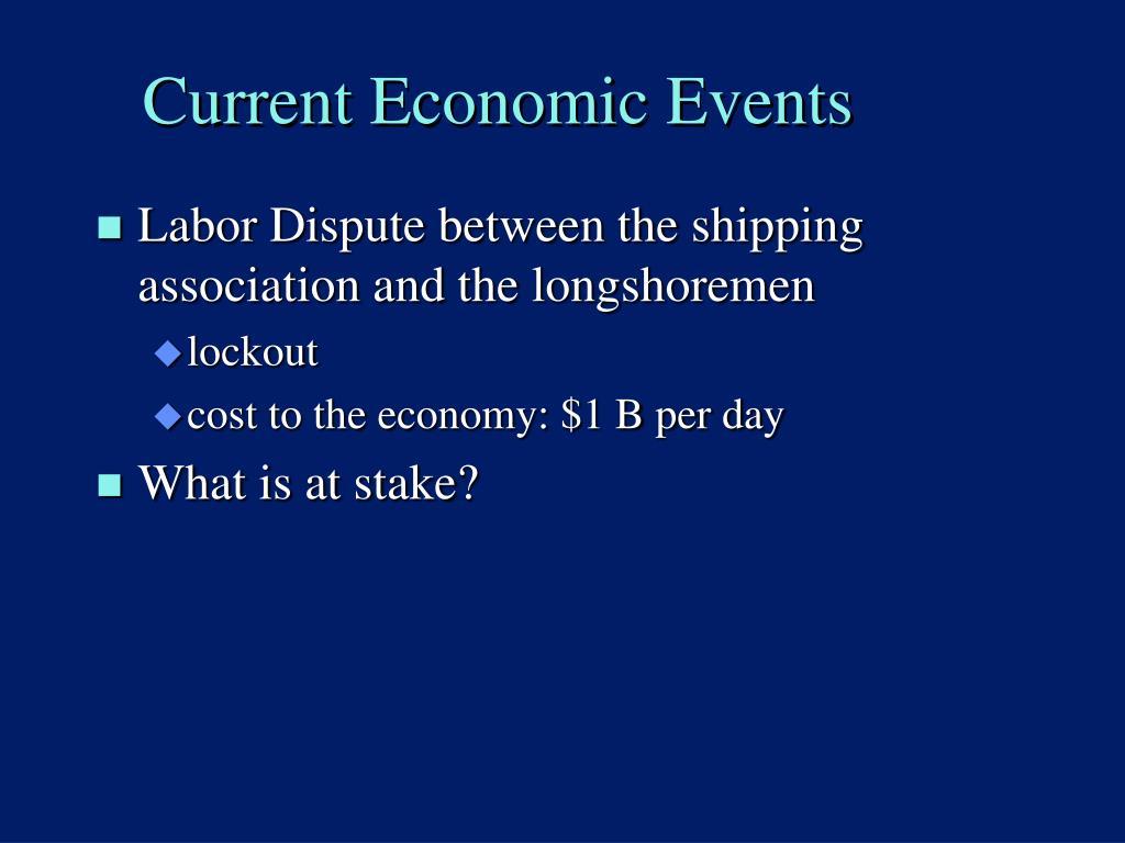 Current Economic Events