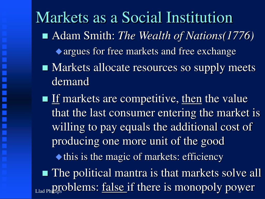 Markets as a Social Institution