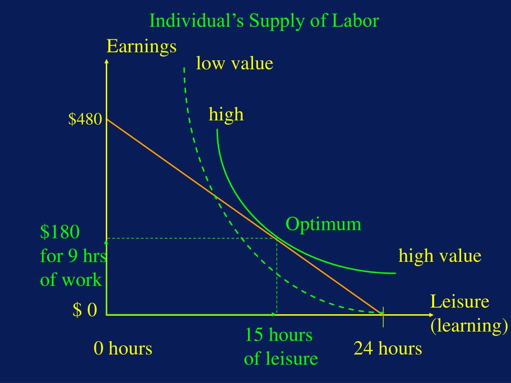 Individual's Supply of Labor