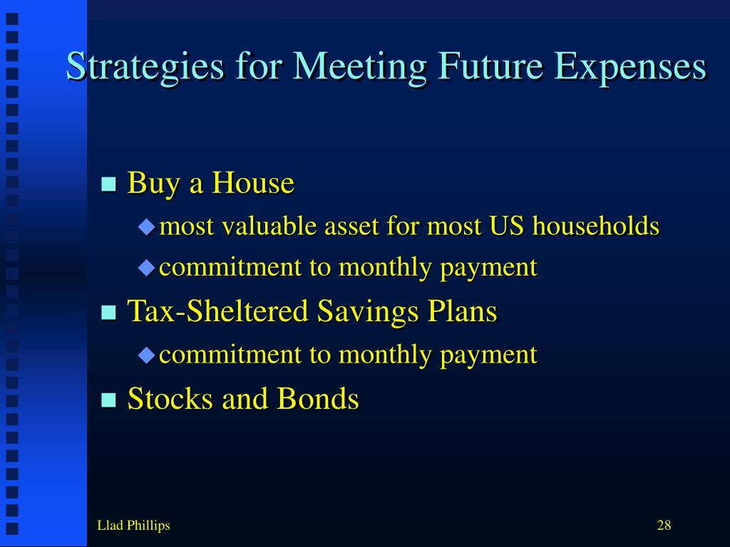 Strategies for Meeting Future Expenses