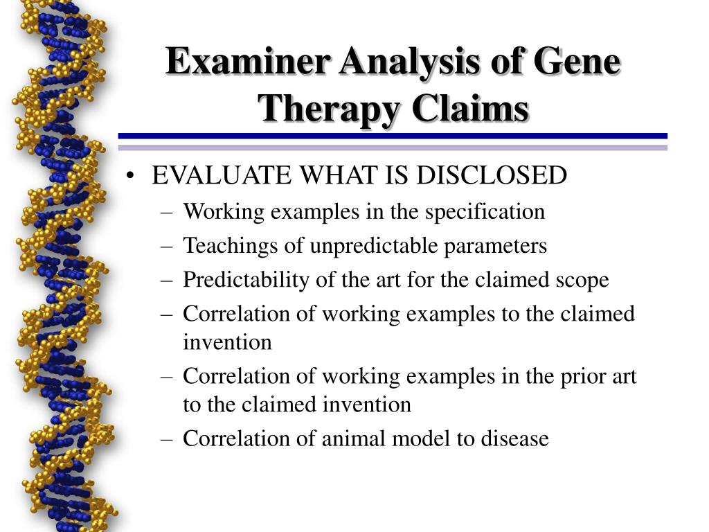 Examiner Analysis of Gene Therapy Claims