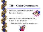 tip claim construction