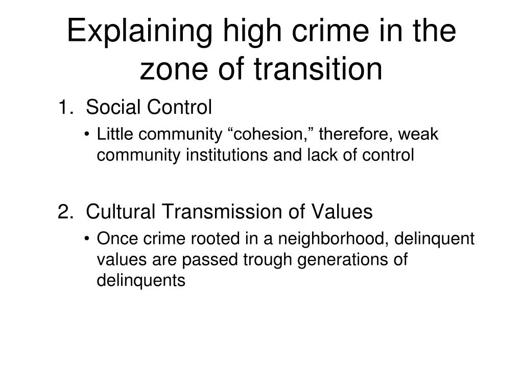 Explaining high crime in the zone of transition
