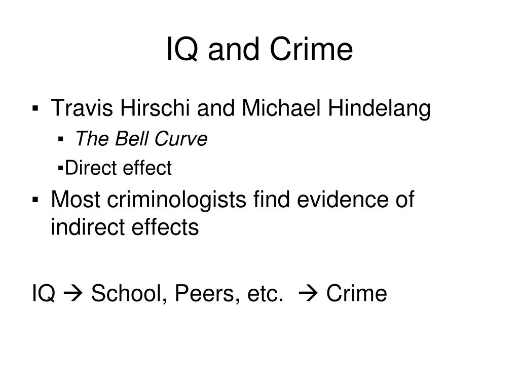 IQ and Crime