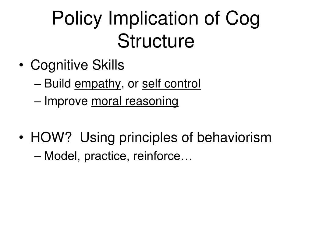 Policy Implication of Cog Structure