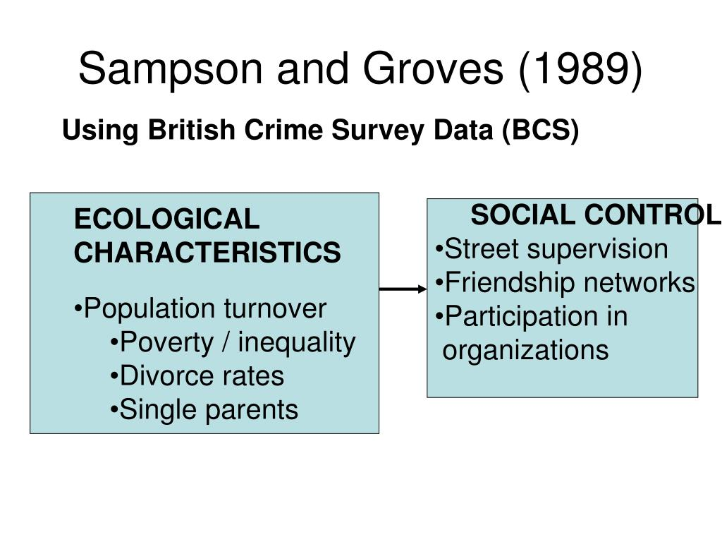 Sampson and Groves (1989)