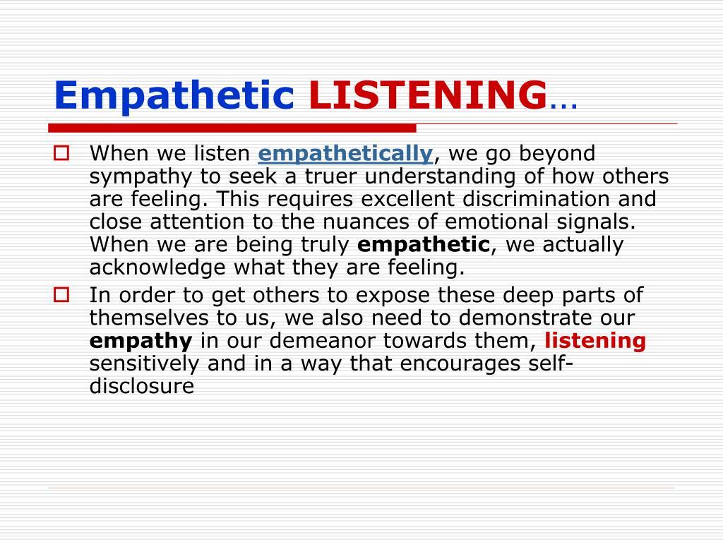 Empathetic
