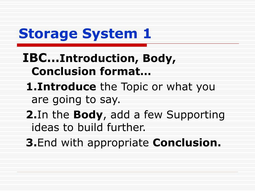 Storage System 1