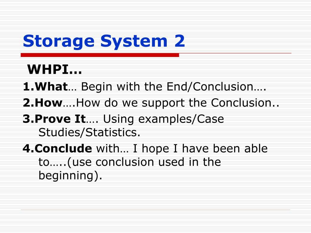 Storage System 2