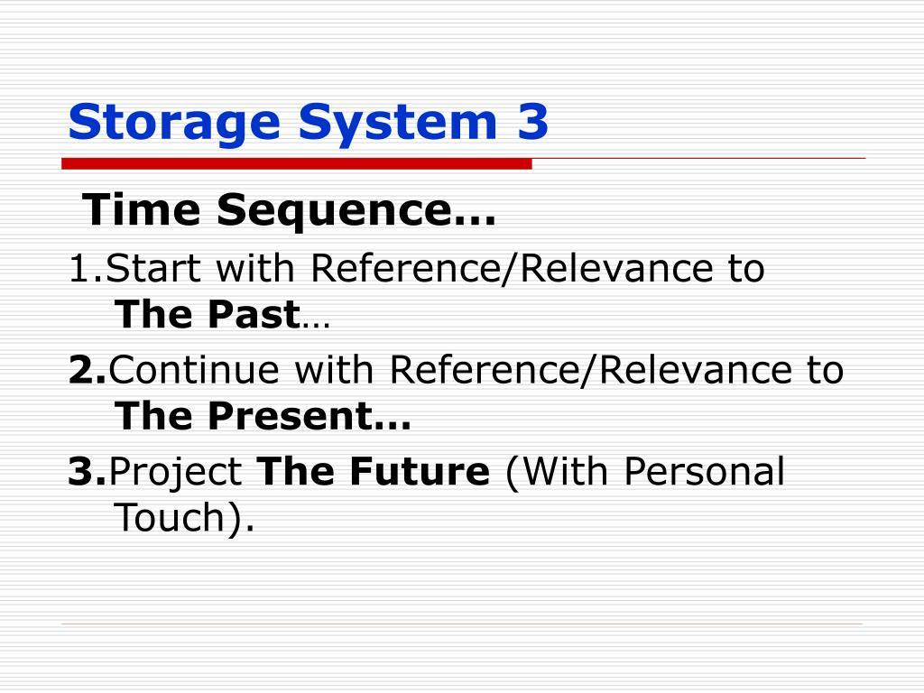 Storage System 3