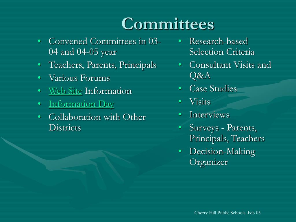 Convened Committees in 03-04 and 04-05 year