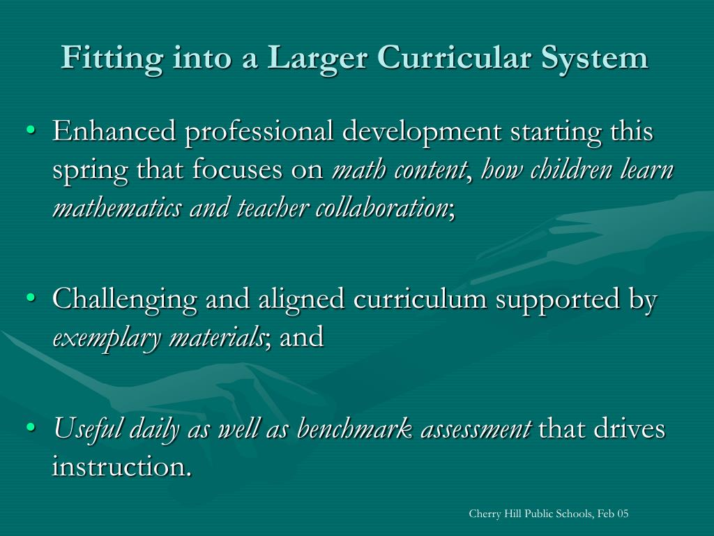 Fitting into a Larger Curricular System