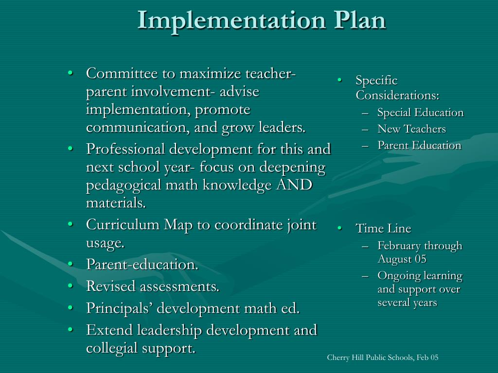 Committee to maximize teacher-parent involvement- advise implementation, promote communication, and grow leaders.
