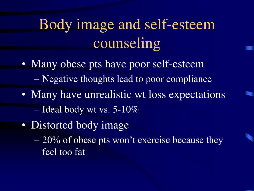 Body image and self-esteem counseling
