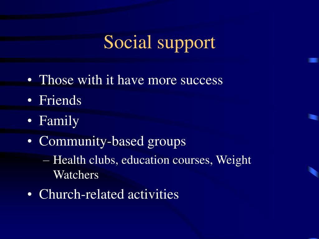 Social support