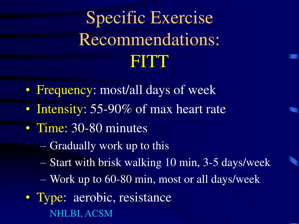 Specific Exercise Recommendations: