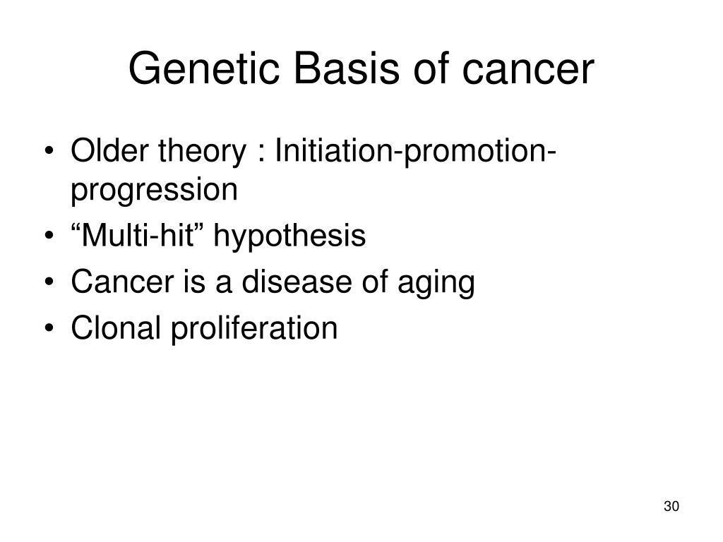 Genetic Basis of cancer