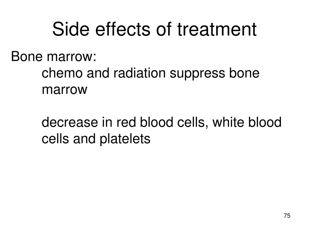 Side effects of treatment